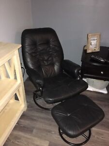 recliner chair and foot stool