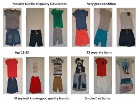 Massive bundle (25 items) of quality kids clothes from top brands in very good condition Age 12-13