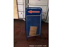 heavy duty sign stand