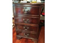Filing cabinet, 2-drawer in mahogany finish