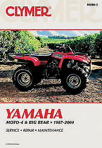 CLYMER MANUAL YAMAHA MOTO-4 AND BIG BEAR 1987-2004