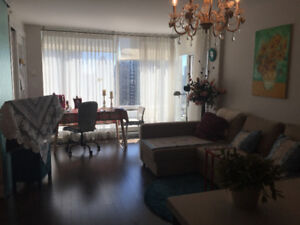 Downtown luxury Apt. 1 bedroom 1 den 1 sunny room for rent