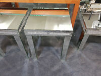 Mirror console table crushed glass