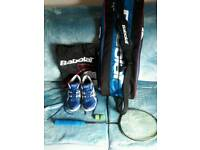 Badminton racket plus accessories