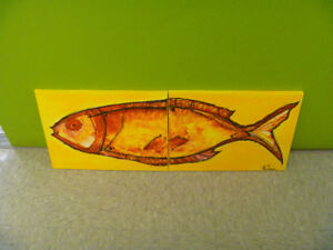 Artist Signed Two Piece Fish Painting