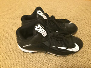 Nike cleats, size 9