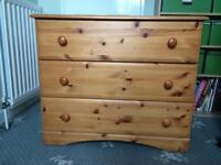 2 pine chests of drawers £50 for two/£25 for one