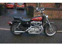 Harley Davidson XLH1200 Sportster - Mustang tank & Wide Glide Kit