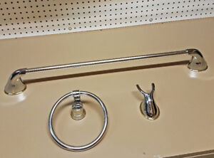 Moen Chrome Towel Bar & Hook, and Ring $20!