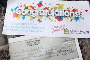$5000 gift card from Furniture world-Im selling it  $4450 only