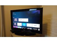 Samsung TV and Amazon fire box