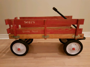 Vintage Wooden Pull Wagon