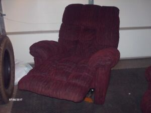 Recliner and a brown chair