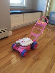 Fisher Price pink toy lawnmower