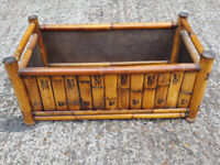 Very unusual wooden bamboo style storage box unit