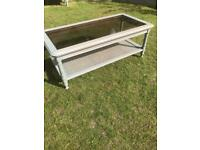 Grange glass top coffee table ( can deliver )