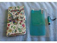 Moto E 3rd Gen phone cover, screen protector film and mini stylus