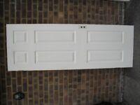 4 X white gloss painted internal panel doors