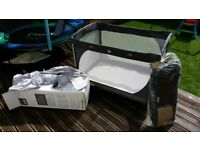 Travel cot playpen Joie Commuter in Shadow inc mattress £40
