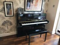 UPRIGHT ACOUSTIC PIANO - HIGH GLOSS BLACK!