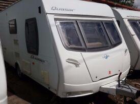 2008 Lunar Quasar 462L 2 Berth End Washroom Caravan with Motor Mover