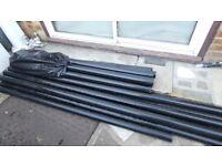 Black pipes 68mm diameter