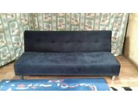 For sale Click Clack sofa bed black velour .