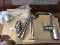 Chrome stainless steel tap mixer BNIB