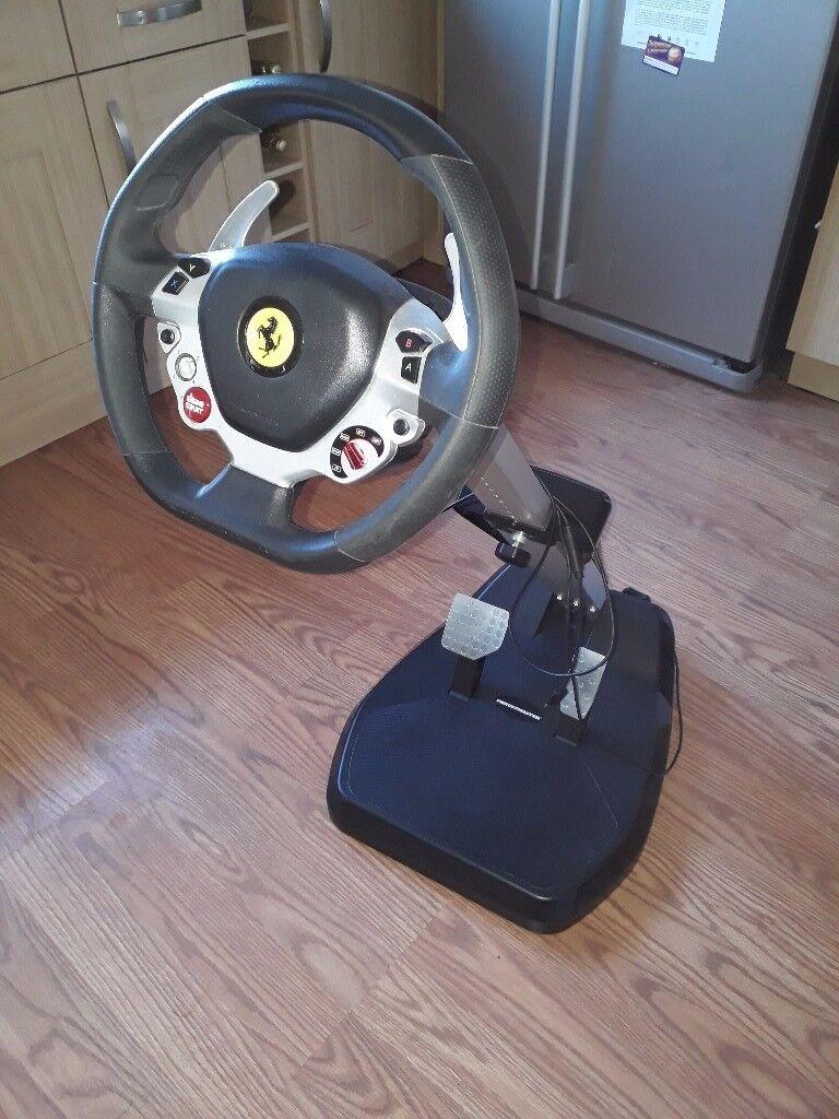 ferrari complet test wheel xbox spider volant racing thrustmaster