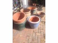 Large plastic garden pots £3.5 each