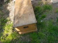 Old pine blanket box