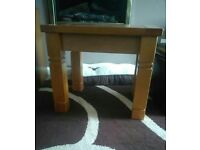 Solid Pine wood side table
