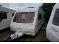 2005 SWIFT CONQUEROR 645 LUX 4 BERTH CARAVAN - ISLAND BED - TWIN AXLE -