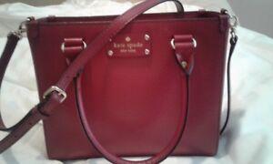 NEW Kate Spade raspberry leather purse / Sac en cuir Kate Spade