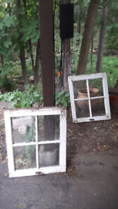 (For Art Work , or -??) NICE Small Vintage STORM WINDOWS, 4 Pane