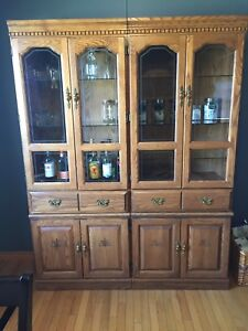 Solid oak hutch $100