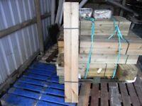 Timber decking newel post 83mmx83mmx1.2m
