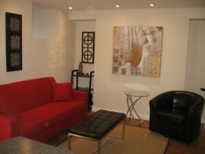 Furnished one bedroom apartment, South End