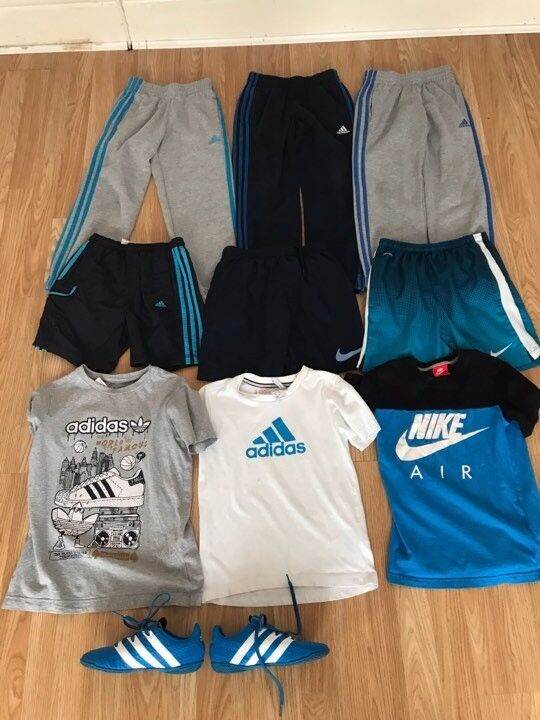 CHEAP USED BOYS 7 8 YEARS JOBLOTNIKEADIDAS20 TAKE ALLin Penny Lane, MerseysideGumtree - USED BUT GOOD CONDITION AS HAVE BEEN WORN £20 FOR ALL 9 ITEMS.... 3 X TRACKSUIT BOTTOMS ( ALL ADIDAS) 3 X SHORTS ( 2 NIKE 1 ADIDAS) 3 X TSHIRTS ( 1 NIKE 2 ADIDAS) 1 X ADIDAS FOOTBALL BOOTS SIZE 1 COLLECTION ONLY PLEASE