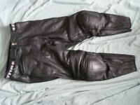 Revit Leather Motorcycle trousers, armoured knees.