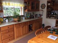 Full pine farmhouse kitchen- including slimline dishwasher.