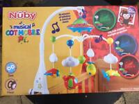Nuby Musical & Light up Cot Mobile New Unopened