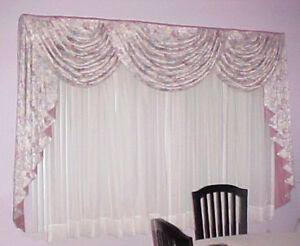 = = = CUSTOM MADE TRADITIONAL STYLE CURTAINS ENSEMBLE