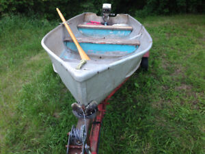 14 ft Peterborough Aluminum boat,motor and trailer