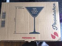 Set of 6 Martini Glasses