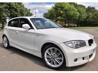 2011 BMW 2.0 118D M-SPORT 143BHP DIESEL 1 SERIES HATCHBACK 6 SPEED MANUAL WHITE 5DR