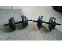 2x Dumbbell fitness weights for getting fit