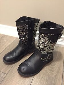 Girls Size 12 Sequin Biker Boots from Fabkids