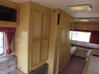 5 berth abbey caravan with awning