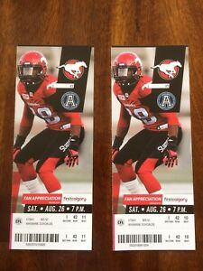 2x Calgary Stampeders tickets (August 26th, 2017)